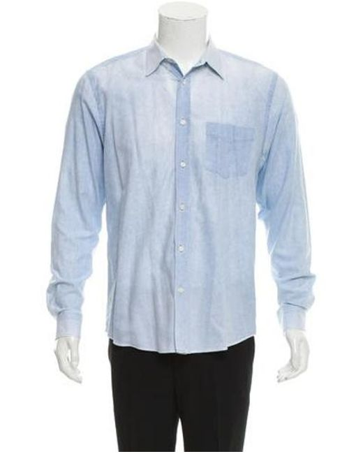 a259663757 Acne - Blue Isherwood Crack Ss13 Chambray Shirt for Men - Lyst ...