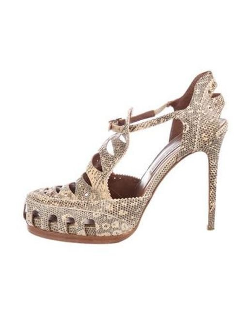 a4fa43c419e Tabitha Simmons - Brown High Heel Leather Pumps - Lyst ...