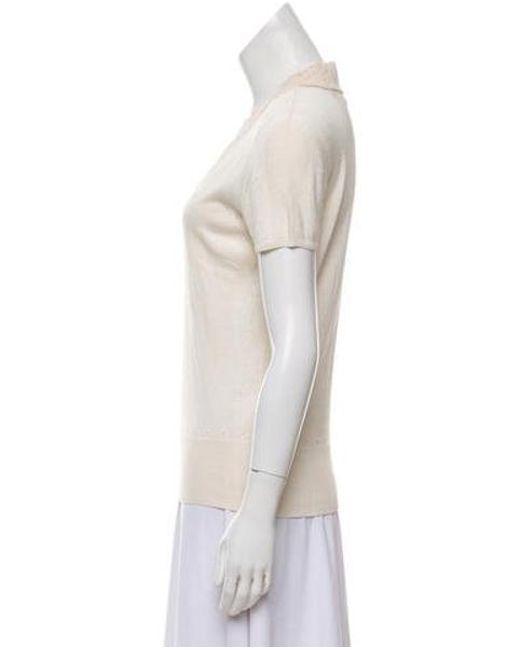 aa24f1b8b8 ... Christian Lacroix - Natural Beaded Silk Top Neutrals - Lyst ...