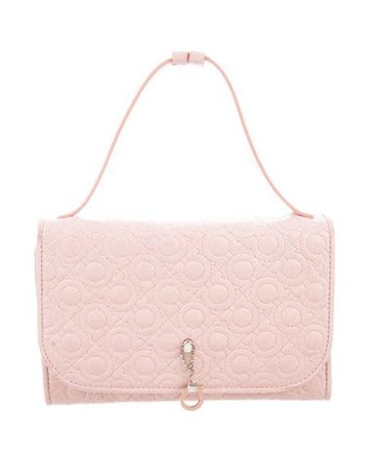 1caddb83f9d6 Ferragamo - Metallic Quilted Leather Bag Pink - Lyst ...