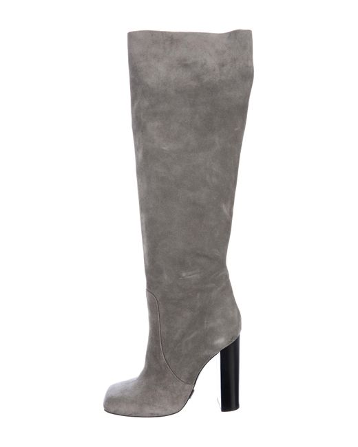 ad0a279eb909 Michael Kors - Gray Suede Knee-high Boots Grey - Lyst ...