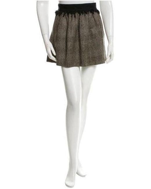 Opening Ceremony - Black Silk Herringbone Skirt - Lyst