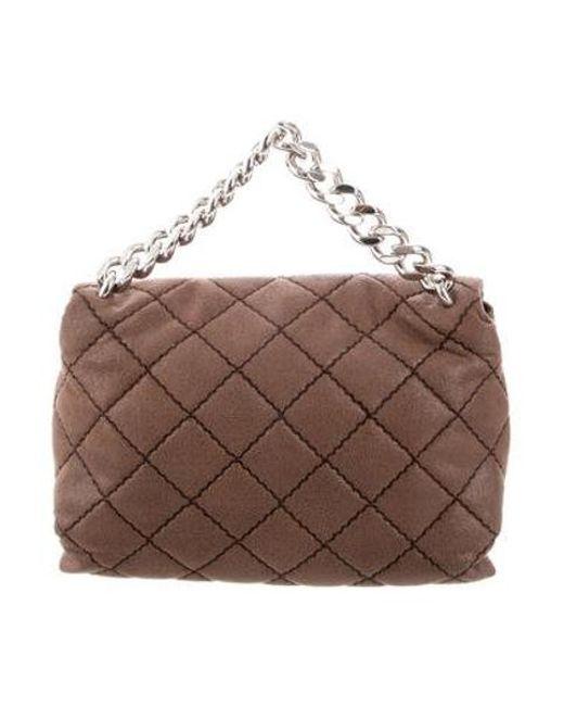 55cb3d608da2 ... Stella McCartney - Brown Quilted Medium Beckett Bag - Lyst