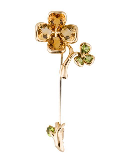 Chanel - Metallic 18k Camila Flower Brooch Yellow - Lyst