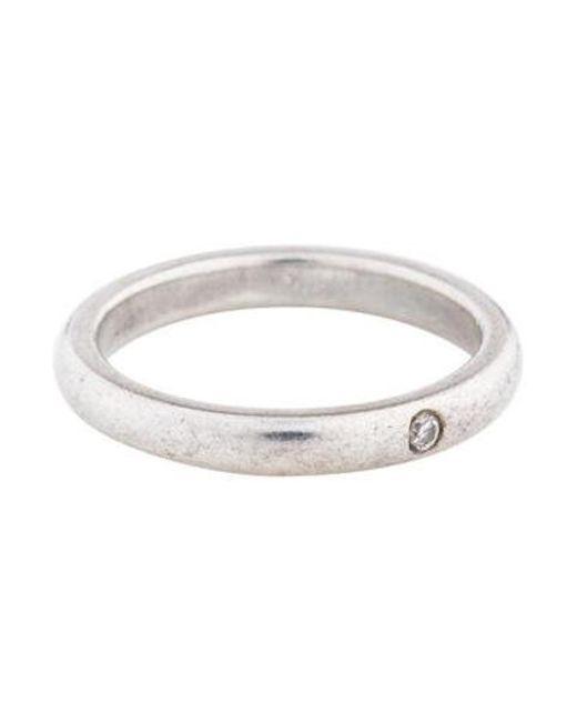 3015791ce746 Tiffany   Co - Metallic Diamond Band Silver - Lyst ...