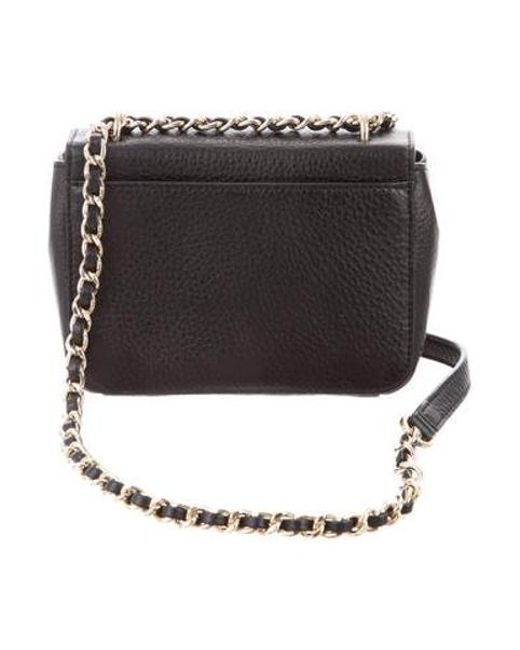 e357bc83ded ... Tory Burch - Metallic Grained Leather Crossbody Bag Black - Lyst ...