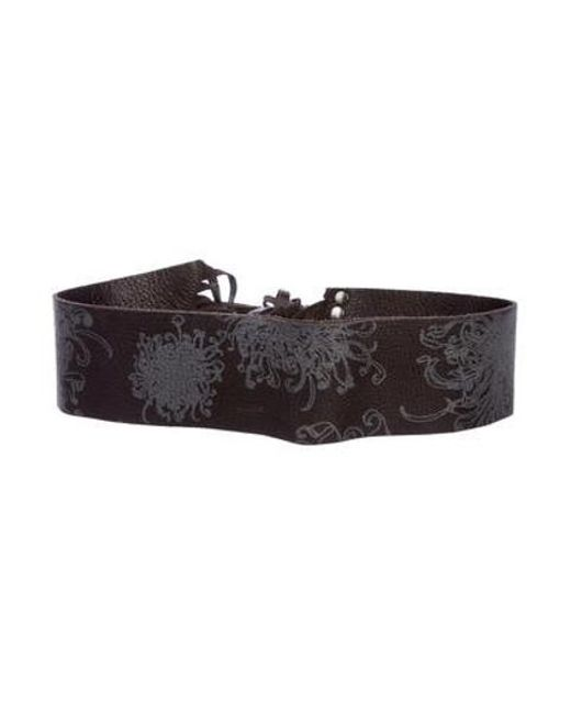 Roberto Cavalli - Metallic Leather Fringe Belt Brown - Lyst ... da800cff2
