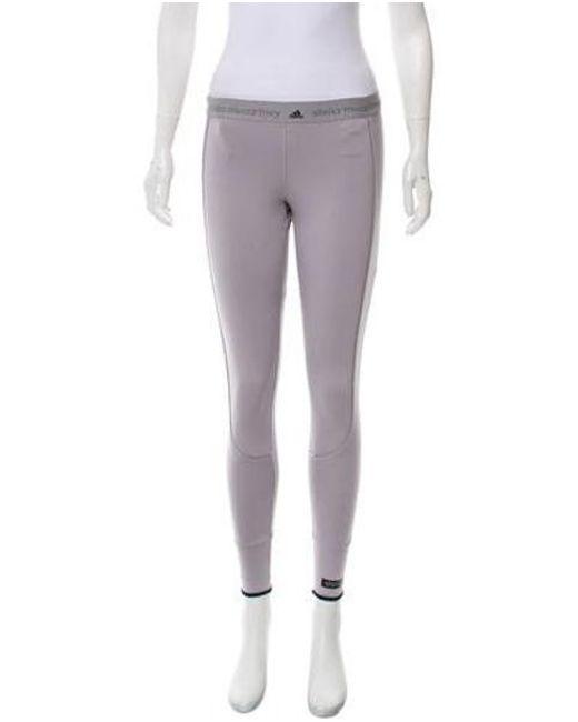 b44cd5f5e838b Adidas By Stella McCartney - Gray Mid-rise Athletic Leggings Grey - Lyst ...