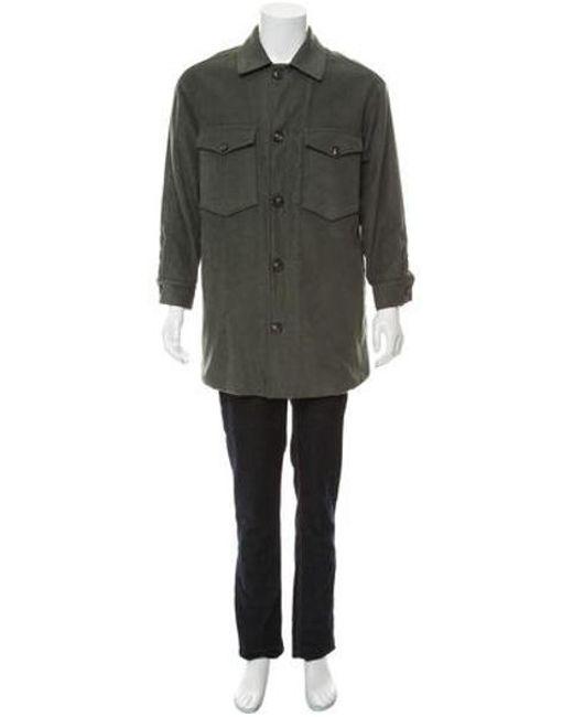 12bae3c68c0 Maison Margiela - Green Patch Pocket Faux Shearling Coat for Men - Lyst ...
