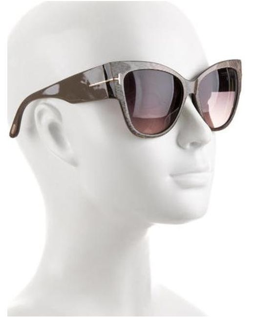 b3fdf57d03 ... Tom Ford - Gray Anoushka Cat-eye Sunglasses Grey - Lyst