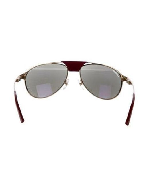 61189b28f2a ... Cartier - Metallic Santos De Sunglasses Champagne - Lyst