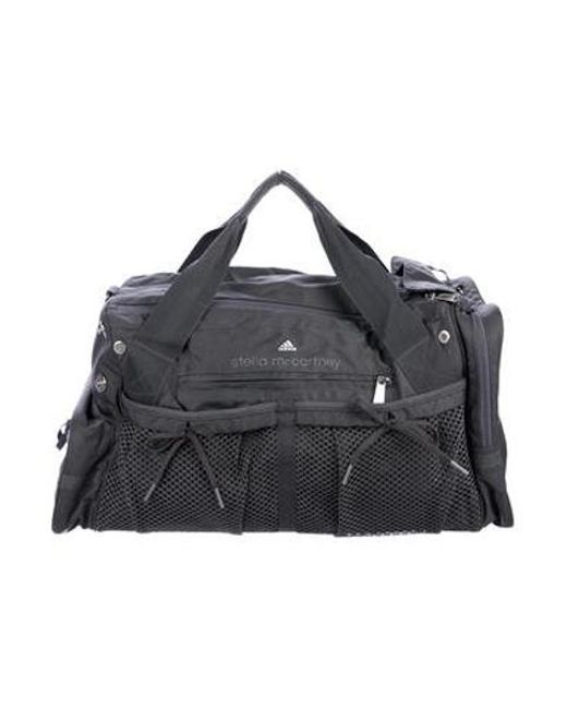 75dde1e38c Adidas By Stella McCartney - Metallic Woven Travel Duffle Bag Silver - Lyst  ...