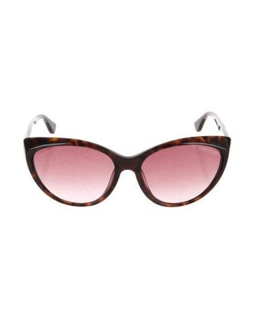 97530d9c0a7 Lyst - Tom Ford Martina Cat-eye Sunglasses Brown in Metallic - Save ...