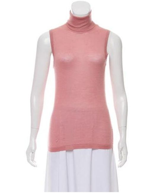 6160c0bd4e67a Missoni - Pink Cashmere-blend Sleeveless Top - Lyst ...