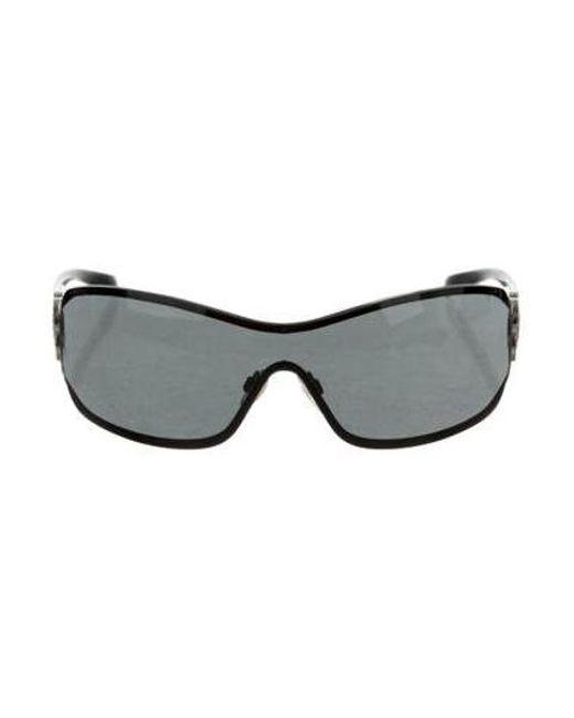 781ed0a60b94 Chanel - Metallic Strass Camellia Sunglasses Silver - Lyst ...