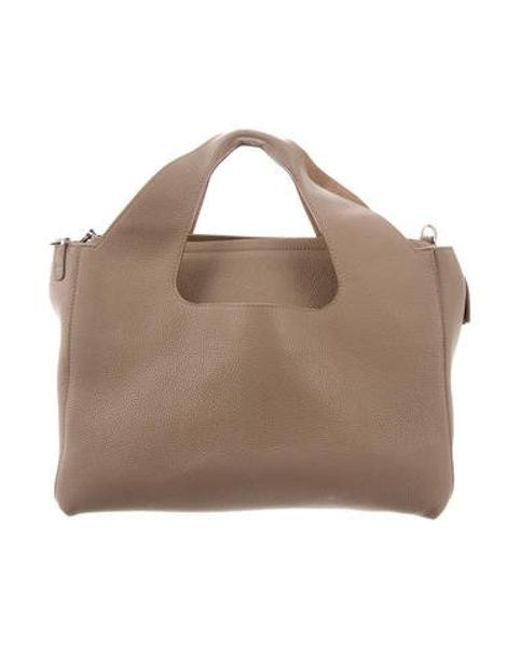 c6f41ac24b99 The Row - Metallic Leather Two For One 12 Bag Tan - Lyst ...