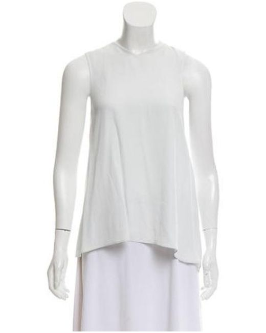 Helmut Lang - White Casual Sleeveless Top - Lyst