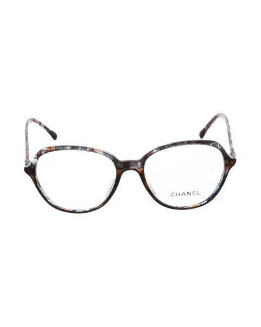7ec6b2746b3d Chanel - Gray Marbled Cc Eyeglasses Black - Lyst ...