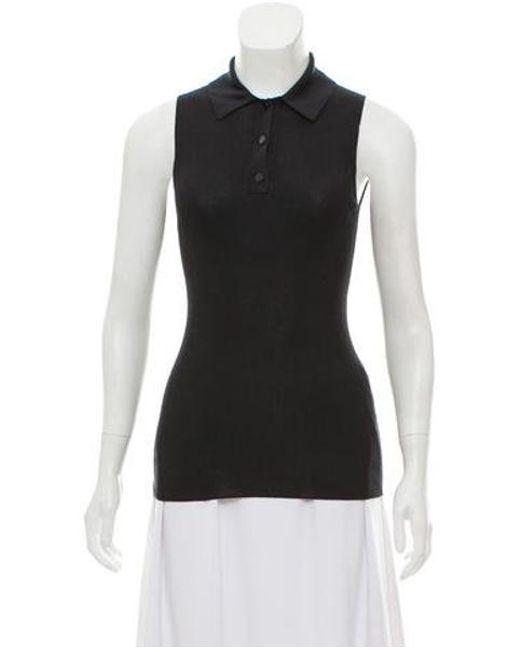 66c486a874e6e Proenza Schouler - Black Sleeveless Knit Top - Lyst ...