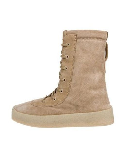 5a78e45a92345 Yeezy - Brown Season 2 Suede Boots for Men - Lyst ...