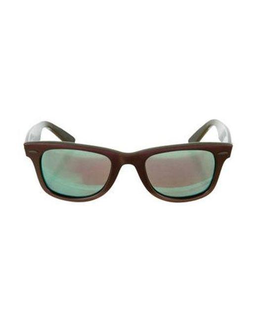 76ba59df8bec ... italy ray ban purple mirrored wayfarer sunglasses lyst 69ed6 dbfcf