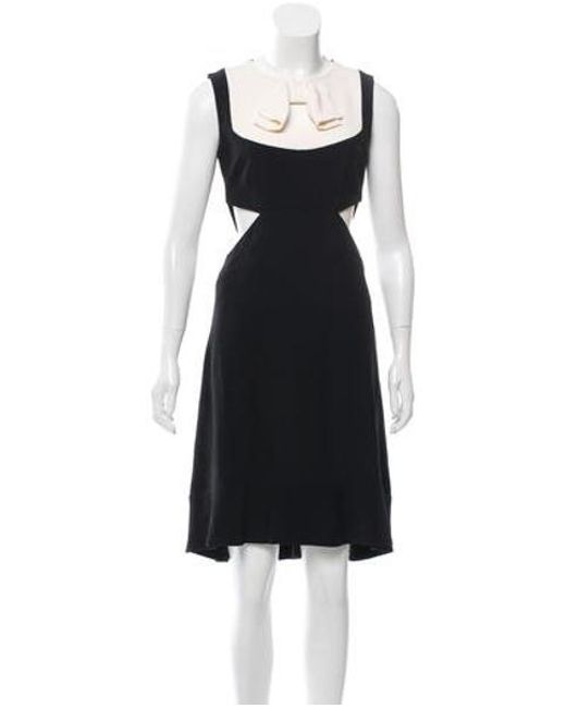 Giulietta - Black Bow-adorned Flounced Dress - Lyst
