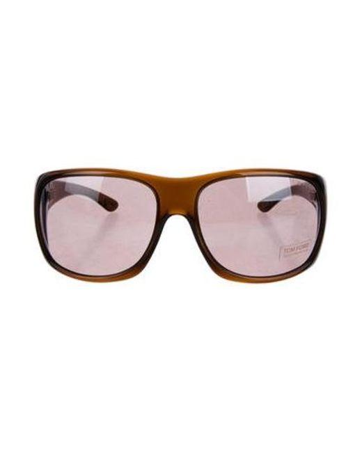e0d257098b63 Tom Ford - Metallic Kennedy Tinted Sunglasses Brown - Lyst ...