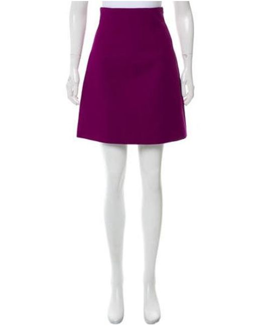 Miu Miu - Purple Miu Knee-length Skirt - Lyst