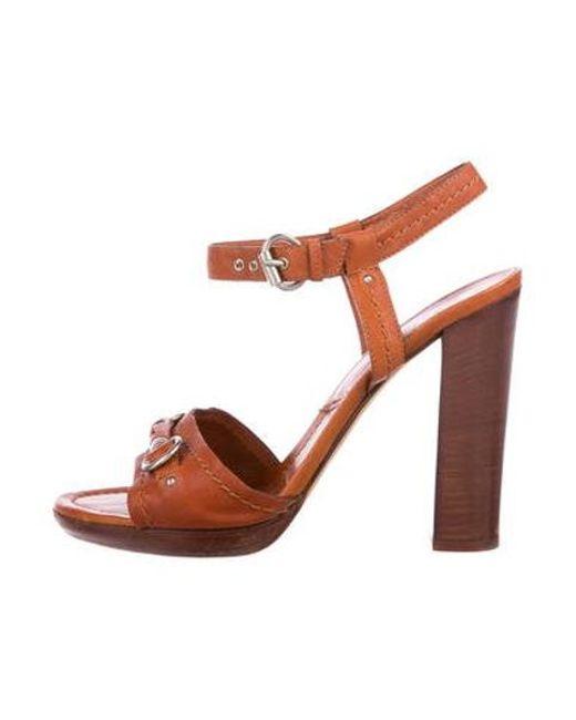 980ba7d9315 Dior - Metallic Leather High-heel Sandals Silver - Lyst ...