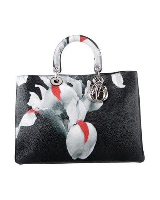 6f79a488dd24 Dior - Metallic Large Diorissimo Bag Black - Lyst ...