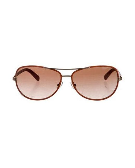 fffa98416aaa Tory Burch - Brown Gradient Aviator Sunglasses Orange - Lyst ...