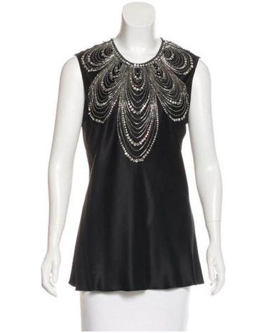 Naeem Khan - Black Embellished Silk - Lyst