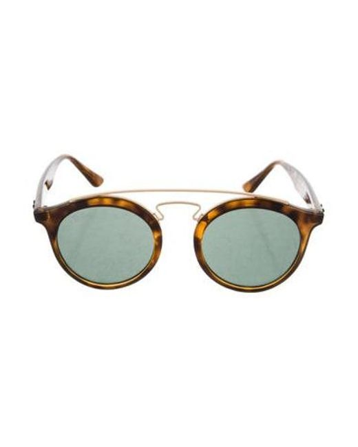 50e38648ccc Ray-Ban - Brown Small Tortoiseshell Sunglasses - Lyst ...