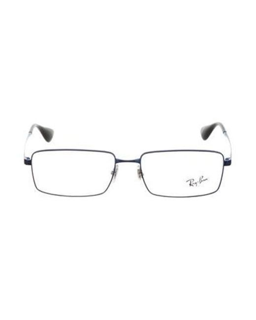 9aea99eaa4 Lyst - Ray-Ban Square Logo Eyeglasses Navy in Blue for Men - Save ...