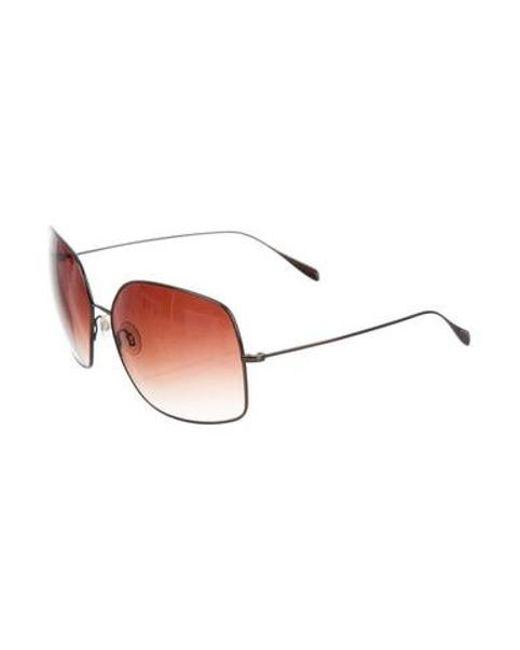 03554c1c2ca2f ... Oliver Peoples - Metallic Square Oversize Sunglasses Brass - Lyst ...