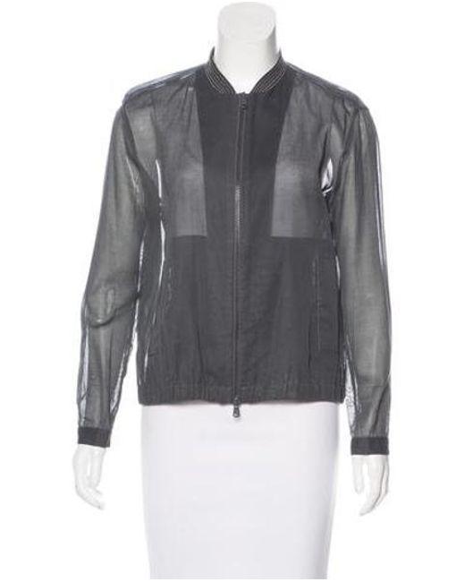 Brunello Cucinelli - Metallic Monili-trimmed Lightweight Jacket Silver - Lyst