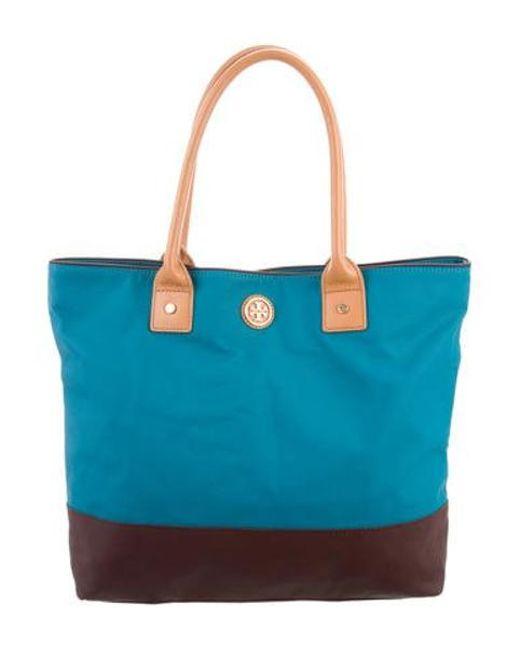 1d63395f0749 Tory Burch - Metallic Leather Shoulder Bag Blue - Lyst ...