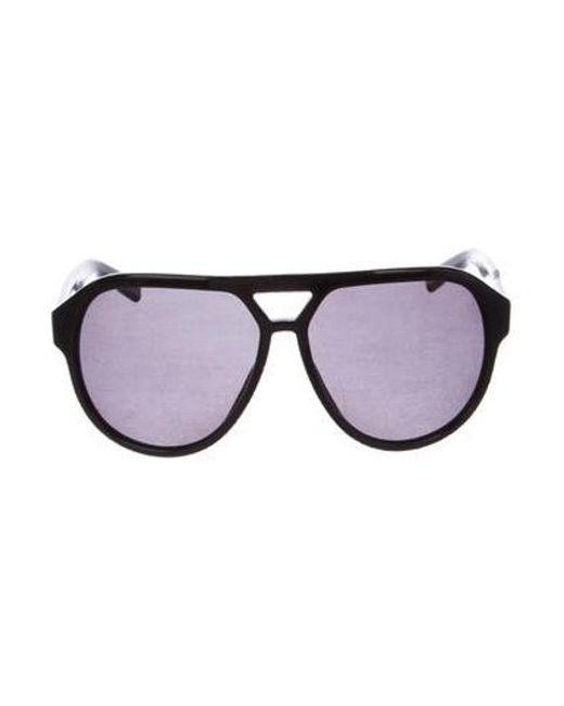 0684e08aff Dior Homme - Black Polarized Aviator Sunglasses for Men - Lyst ...