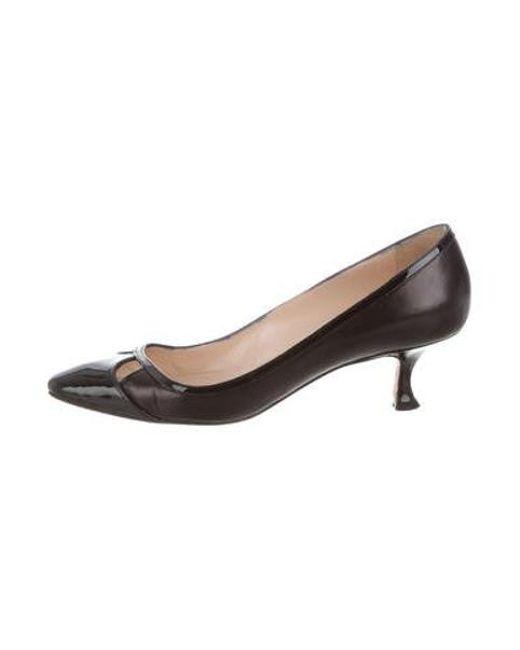 e5e3d32d9ab0 Manolo Blahnik - Black Patent Leather Pointed-toe Pumps - Lyst ...
