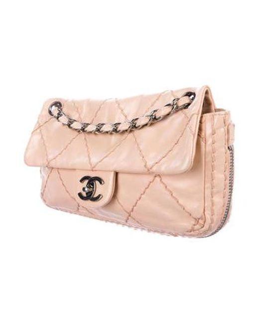 99724af813c4 ... Chanel - Metallic Expandable Ligne Flap Bag Silver - Lyst ...