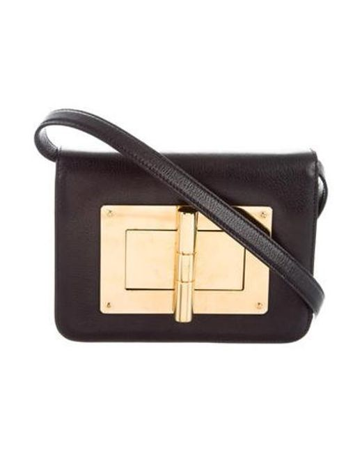 Tom Ford Metallic Natalia Crossbody Bag Black Lyst