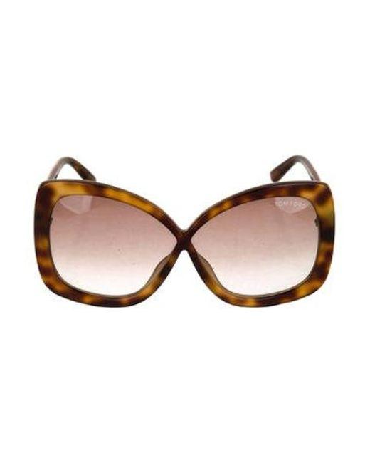 3f638bdce3ab2 Tom Ford - Metallic Calgary Tinted Sunglasses Gold - Lyst ...