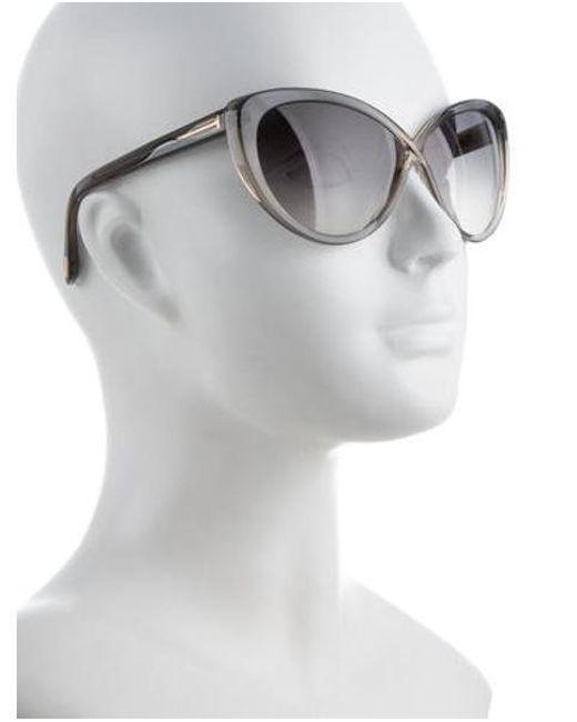 25d493f7aa35 ... Tom Ford - Metallic Madison Cat-eye Sunglasses Grey - Lyst