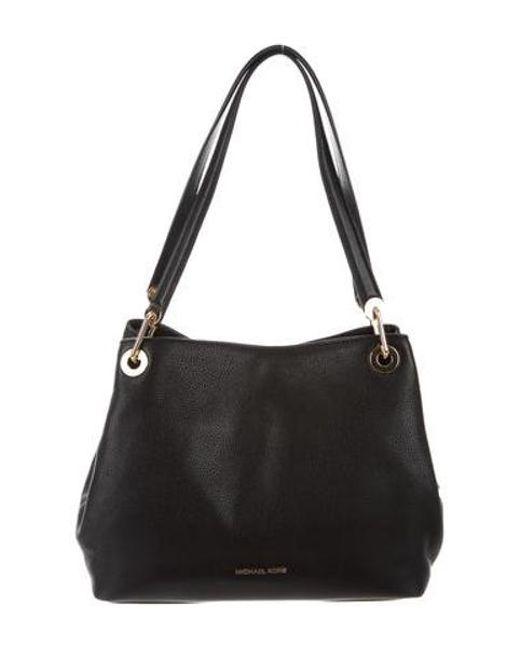 66ee8340fd7f5 MICHAEL Michael Kors - Metallic Michael Kors Leather Shoulder Bag Black -  Lyst ...