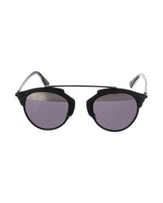 ca6f54b6562 Lyst - Dior So Real Tortoiseshell Sunglasses in Black - Save ...