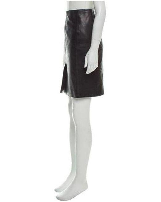 26996d13805c4c ... Alexander Wang - Metallic Knee-length Leather Skirt Black - Lyst ...