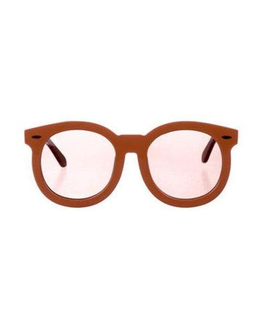 4a28596f6a39 Karen Walker - Metallic Super Duper Thistle Sunglasses Gold - Lyst ...