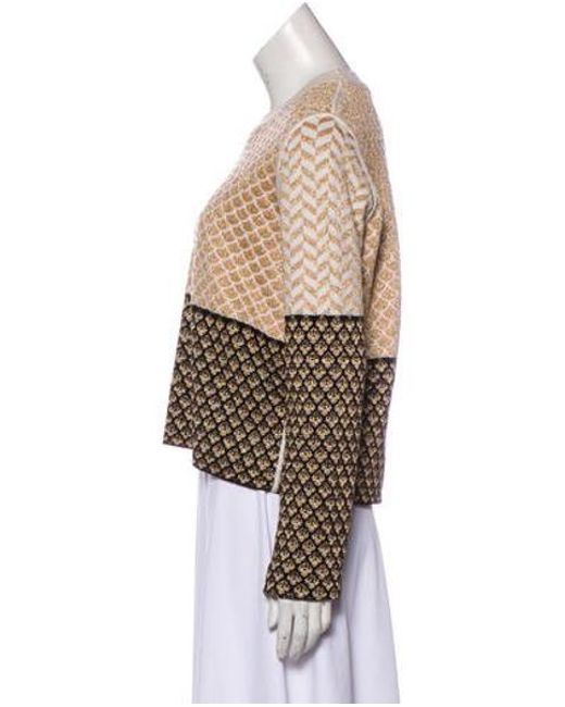 ... KENZO - Metallic Knit Sweater Gold - Lyst ... 8ee15f868