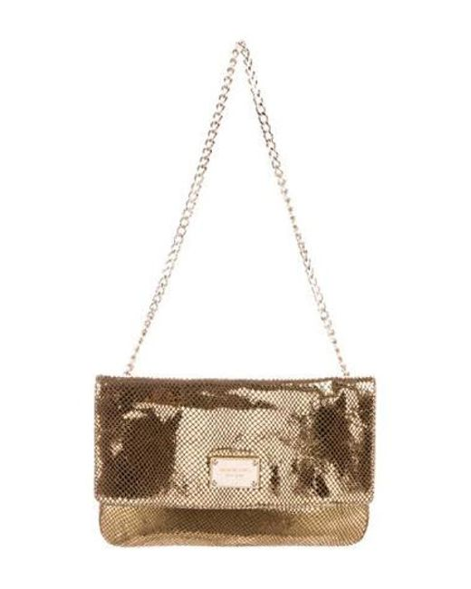 b5a1457888c9 MICHAEL Michael Kors - Metallic Michael Kors Embossed Leather Shoulder Bag  - Lyst ...