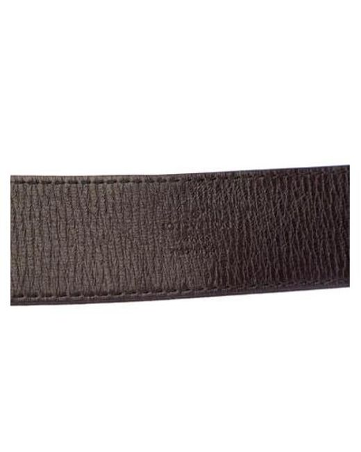 ... Louis Vuitton - Brown Utah Initiales Belt for Men - Lyst 90789c65901